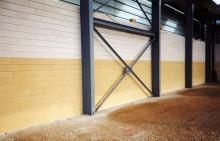 Cabinet Technique de l'Est à Riedisheim (68400) / Usine ST2M à Etupes (25) - Blocs ELCO de Parement Acoustiques