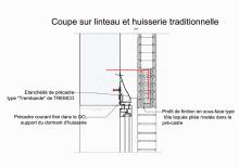 AS100-2-Coupe sur Linteau & Huisserie Traditionnelle