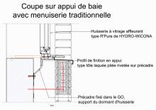 AS100-3-Coupe sur Appui de Baie & Menuiserie Traditionnelle