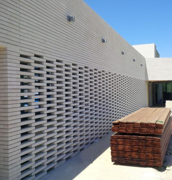 Calestroupat Architecture à Toulouse (31) / Espace Bergean à Esclaguens (31) - Briques BlocStar Am90