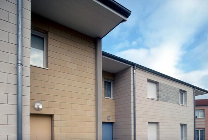 23 Logements à Fameck (57) / KRUMBHOLZ LECHLEITER Architecture à Metz (57)) - Blocs arhitectoniques ELCO Coffrant
