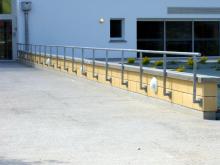 Séparatif Extérieur & Cloture en Blocs ELCO Coffrant de 20 Parement Lisse Jaune paille