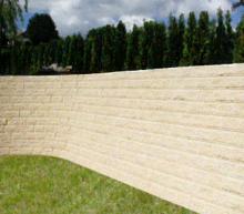 Séparatif Extérieur & mur de Clôture en Blocs ELCO Coffrant de 20 : Parement Clivé Jaune Paille