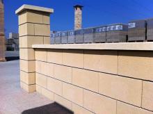 Séparatif Extérieur & mur de Clôture en Blocs ELCO Coffrant de 20 : Parement lisse Ton Pierre