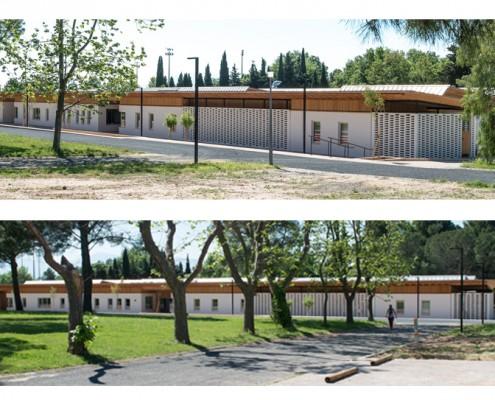 Agence Perris Perris à Roquefort-des-Corbières (11) - Pôle de la Petite Enfance à Perpignan (66) / 1.200 m² BRIQUES BlocStar As100 à montage à Sec & Briques Am180 Structurelles pour Moucharabieh de Grande Taille