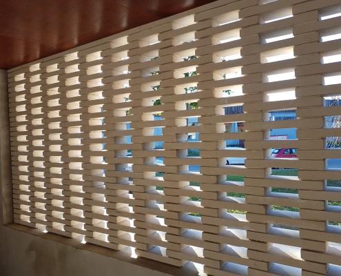 Pôle de l'Enfance à pont l'Évêque (38) - Nunc Atelier d'Architecture (73) : Briques BlocStar Am180