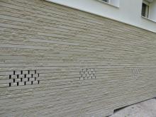 1.005 m² Briques BlocStar Am90 Parement Ton Pierre 1/3 parement lisse et 2/3 parement clivé / Joint horizontal Sec de 5 mm