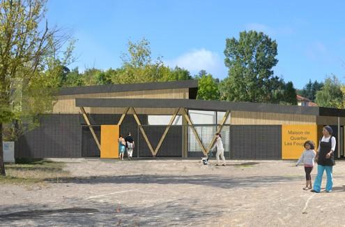 Maison de quartier à Villefontaine Loup & Ménigoz Architectes 38