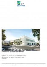 Gymnase Georges Pompidou à Courbevoie (92) : ENIA Architecture à Montreuil (94) - 1.200 m² Briques BlocStar Am90 à maçonner