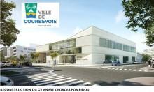 Gymnase Georges Pompidou à Courbevoie (92) : Agence ENIA Architecture à Montreuil (94) - 1.200 m² de Briques BlocStar Am90 parement lisse Ton Pierre