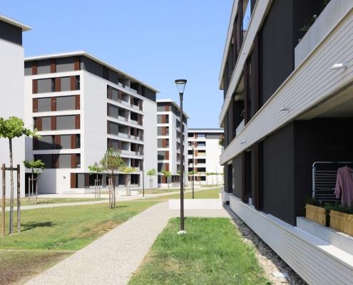 Grand-Angle, Zac-Andromède à Blagnac : G.G.R. Architecte (31) Altarea Cogedim (31) – 5850m² Briques BlocStar Am90 et Am 180