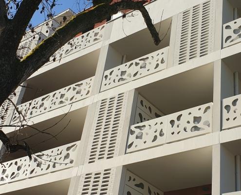 Square Oréa à Lormont (33) - Advento Architecture (33) - SCCV Rue Dupin & Promobat (33) - 1400 m² de briques BlocStar Am90 et AC19