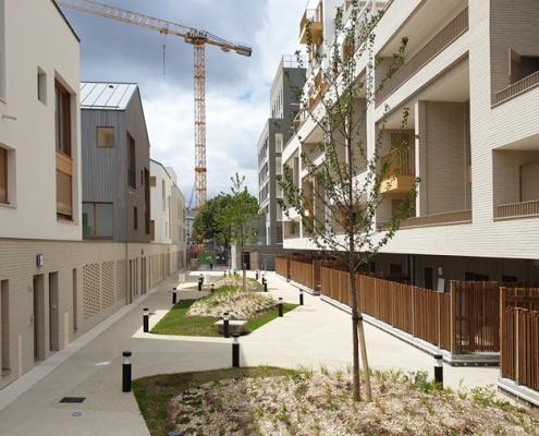 125 Logements a Romainville (93) Brenac et Gonzalez (75) - 2200m² Briques BlocStar Am90 et Plaquettes Ac19