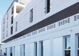 Cosmopoly - Zac Eureka à Castelnau le Lez (34) - Taillandier Architectes (31) - 1900 m² de Briques BlocStar Am70, Am 180 et Plaquettes Ac19 Lisses et Clivées