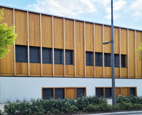 Collège, gymnase à Orléans (45) – Archi5 Prod (93) – 2500m² Briques BlocStar AmR70 Lisses et Clivées