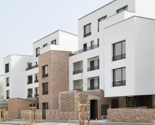 Résidence Hameau Chapus (C à Nantes (44) - Tact Architectes (44) - GHT (44) - 1600m² Briques BlocStar Am70, Am180 et Plaquettes Ac19